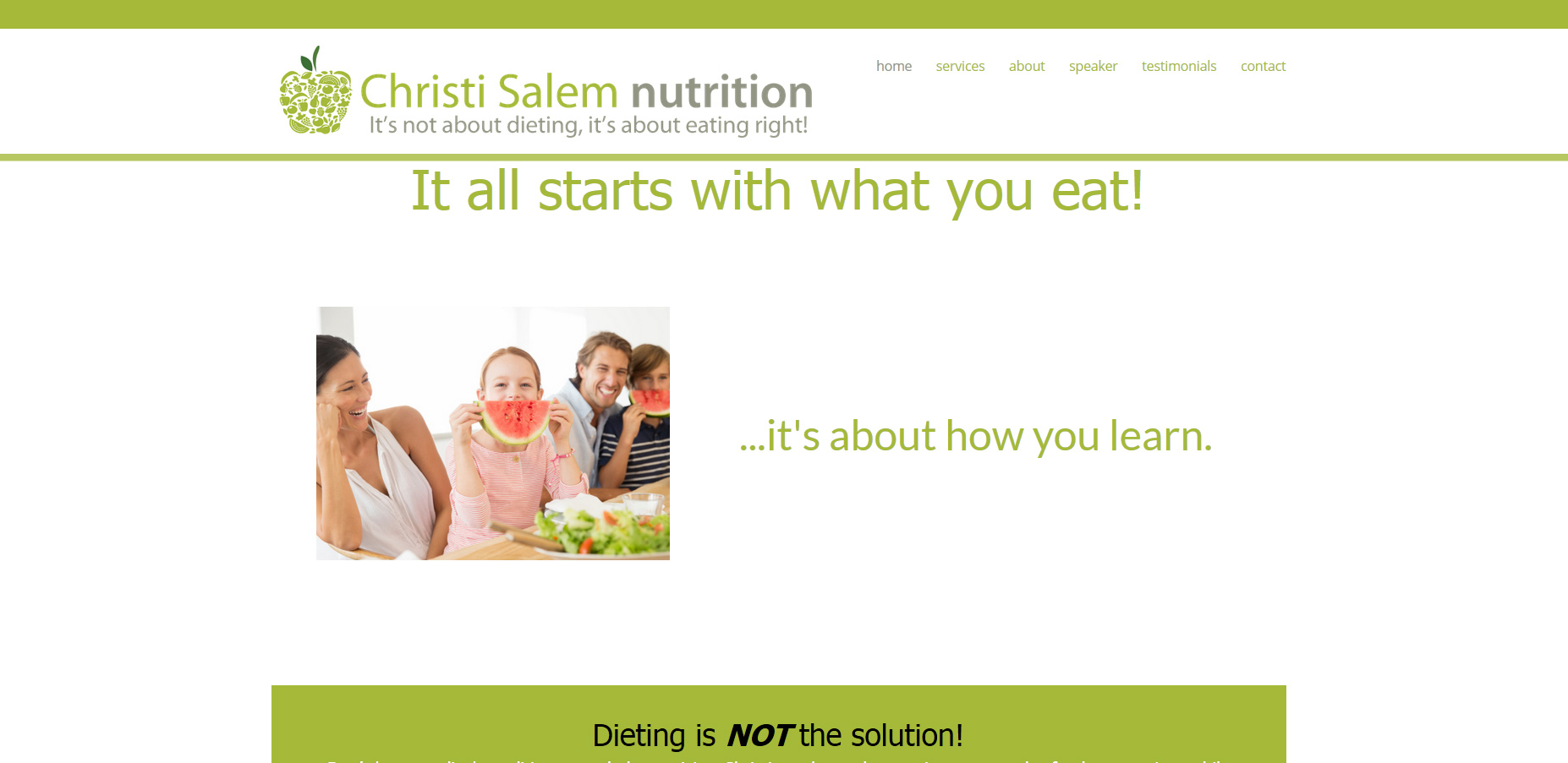 nutritionist website